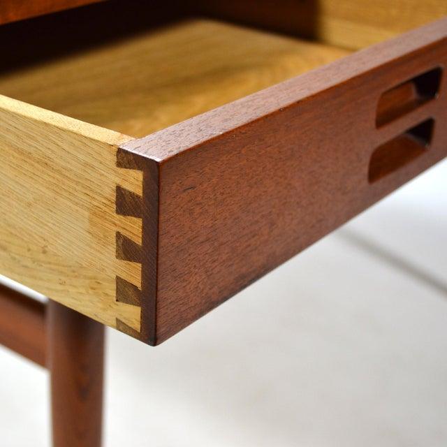 Brown Nanna Ditzel & Jørgen Ditzel Three-Drawer Teak Desk For Sale - Image 8 of 10