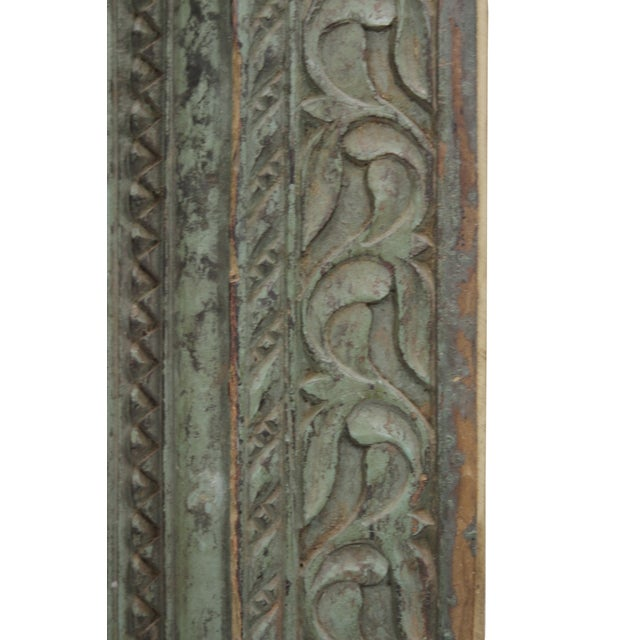 Full Length Antique Carved Floor Mirror - Image 3 of 3