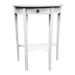 Demilune White Console Table For Sale