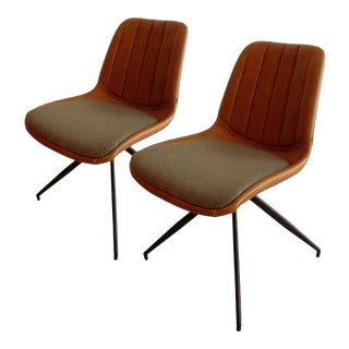 """Modena"" Leather Chairs - a Pair For Sale"