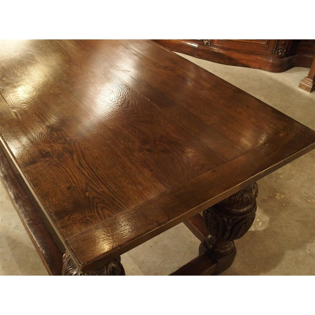Antique Oak Elizabethan Style Table, England 19th Century For Sale - Image 10 of 13