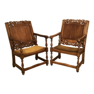 19th Century Convertible Monk's Chairs or End Tables - a Pair