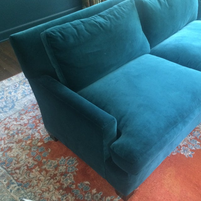 Teal Sofa with Chaise from Quatrine - Image 4 of 7