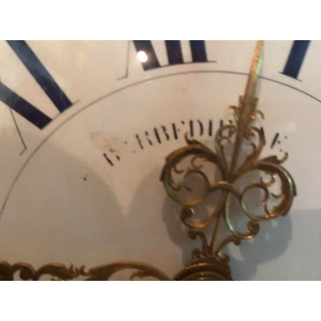 Mid 19th Century Antique f.f. F. Barbedienne Louis XV Mantle Clock For Sale - Image 9 of 13