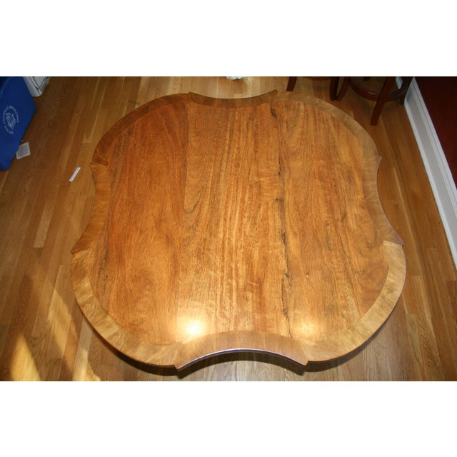 Inlaid Top Pedestal Dining Table - Image 5 of 6