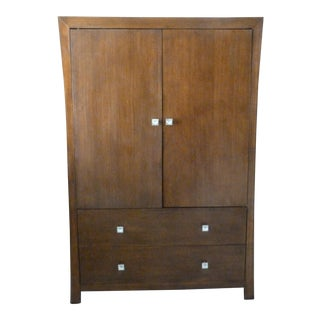 Modern Asian Style Armoire For Sale