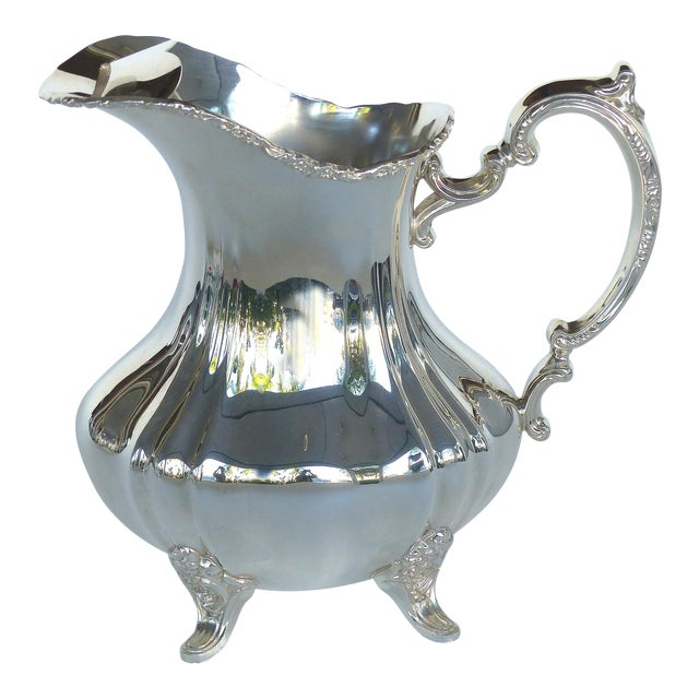 Gorham Electroplated Nickel Silver Footed Water Pitcher For Sale