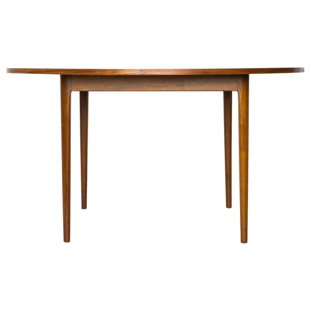 Gorgeous round game height table in walnut by Kipp Stewart for the Declaration line. Stenciled design on top. Consider...