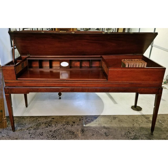 18c British Mahogany and Satinwood Bureau For Sale In Dallas - Image 6 of 13