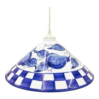 Hand Painted Porcelain Pendant Light
