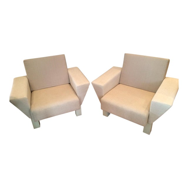 Ettore Sottsass From Knoll Studio Westside Lounge Chairs - A Pair - Image 1 of 5