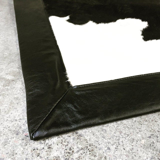 Black & White Cowhide Area Rug - Image 3 of 3
