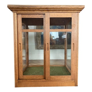 Antique Tabletop Curio Display Cabinet For Sale
