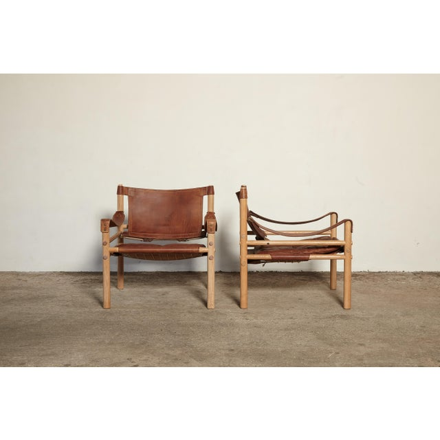 Mid-Century Modern Pair of Arne Norell Sirocco Safari Chairs, Norell Mobel, Sweden, 1970s For Sale - Image 3 of 13