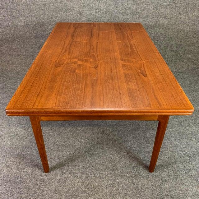 1960s 1960s Scandinavian Modern Teak Draw Leaf Dining Table For Sale - Image 5 of 11
