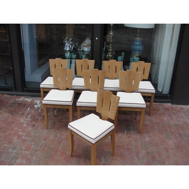 Exquisite carved oak chairs with many details to enjoy. Sourced from the late Amy Perlin's inventory of French...