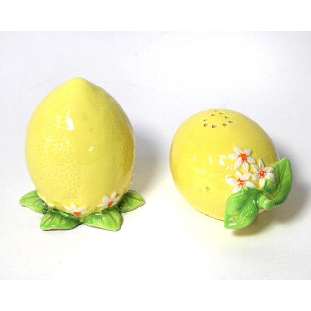 English Ceramic Lemon Salt & Pepper Shakers - a Pair For Sale - Image 3 of 4