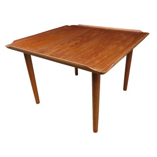 Vintage Mid-Century Poul Jensen for Selig Danish Teak Coffee Table For Sale