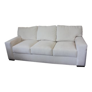 Contemporary Century Furniture White Fabric Sofa For Sale