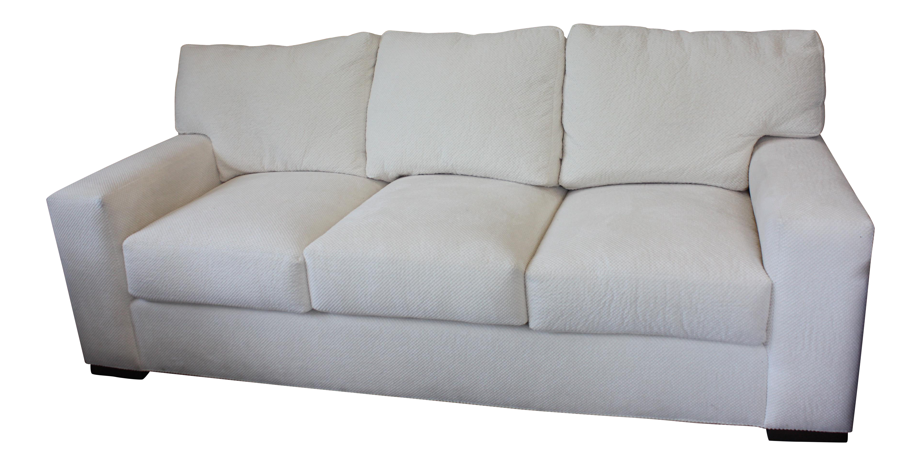 Lovely Contemporary Century Furniture White Fabric Sofa