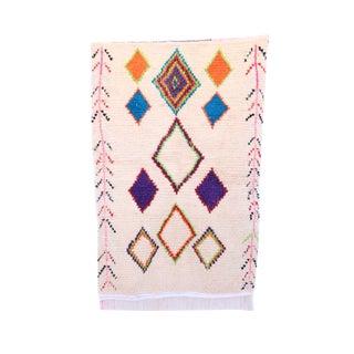 """Boujad Vintage Moroccan Rug, 3'3"""" x 5'0"""" feet"""