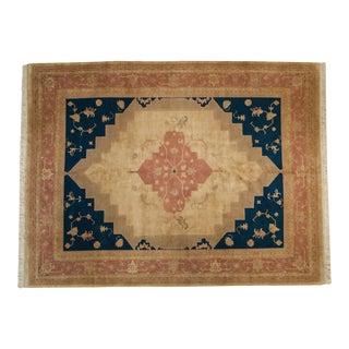 Vintage Tea Washed Indian Serapi Design Carpet - 9' X 12' For Sale