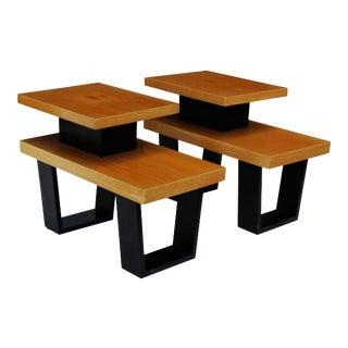 Paul Frankl 'Primavera' Step End Tables, pair