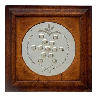 English Sorcerer's or Bullseye Mirror From the Campaign Era For Sale