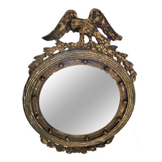 Antique Federalist Eagle Mirror