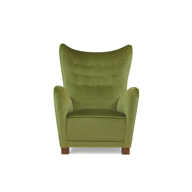 1942 Thorald Madsen for Fritz Hansen High Back Lounge Chair For Sale - Image 9 of 11