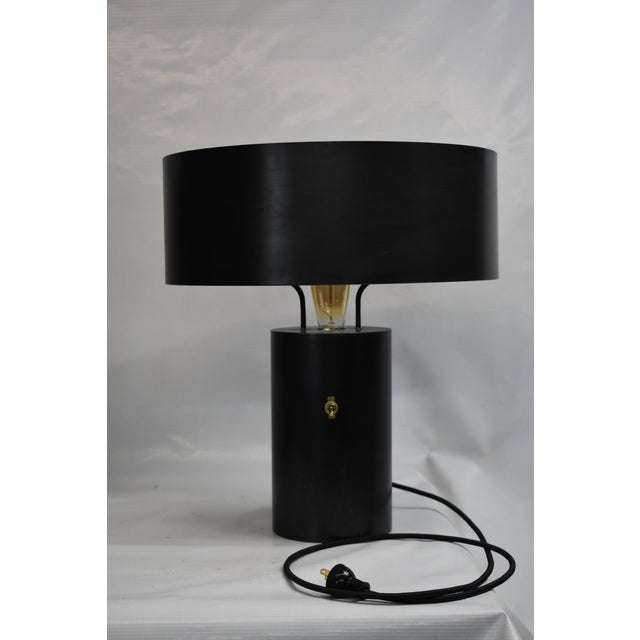 Black Berlin Table Lamp With Shade For Sale In New York - Image 6 of 6
