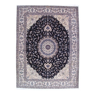 "Pasargad Ny Persian Nain 6-Lines Hand-Knotted Rug - 10' X 13'3"" For Sale"