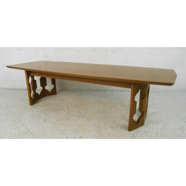 Vintage Modern Coffee Table With Sculptural Base For Sale - Image 4 of 13