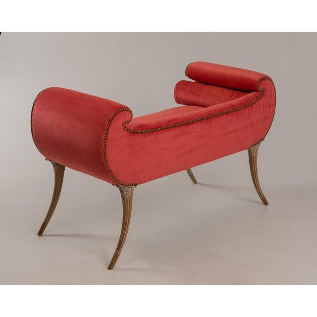 Antique Regency Neoclassical Klismos Saber Leg Bench For Sale - Image 4 of 13