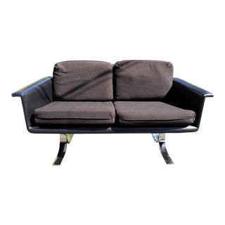 Danish Modern Rosewood and Chrome Sofa by Artopex Limitee For Sale