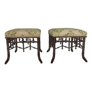 Barclays Butera Chinoiserie Benches - a Pair For Sale