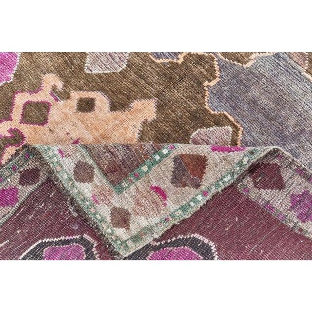 Vintage Purple Turkish Area Rug 5' X 11' For Sale - Image 4 of 6