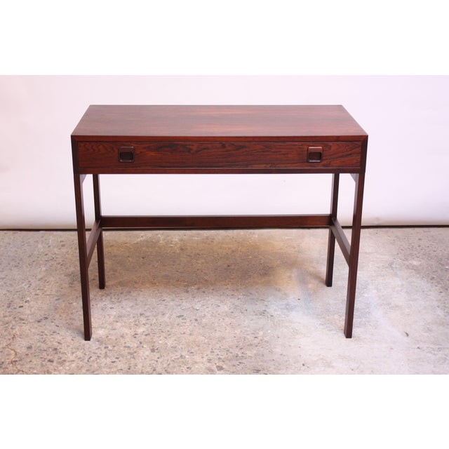 Diminutive Danish Modern Rosewood Desk by EJM Skive For Sale - Image 4 of 12