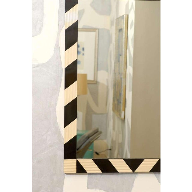 Fabulous Pair of Modern High Style Mirrors in Cream and Black For Sale In Atlanta - Image 6 of 10