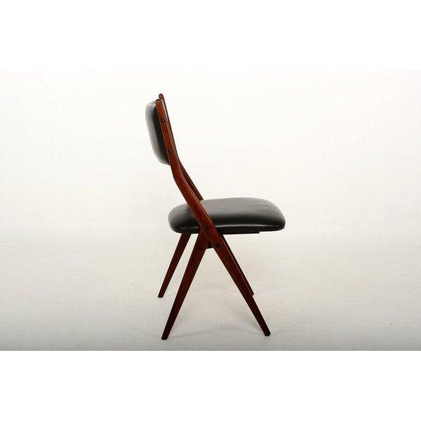 Mid-Century Modern Set of Four Mid-Century Italian Armchairs For Sale - Image 3 of 6