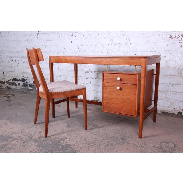 Danish Modern Kipp Stewart for Drexel Declaration Mid-Century Modern Walnut Desk and Chair For Sale - Image 3 of 13