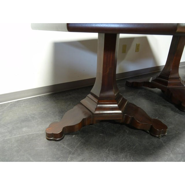 EJ Victor Transitional Double Pedestal Dining Table For Sale - Image 9 of 11