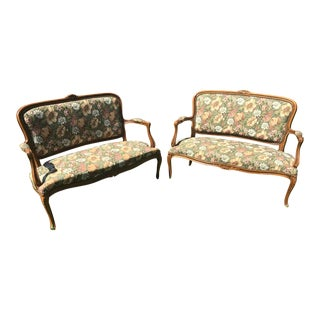 19th Century French Provincial Settees - A Pair For Sale