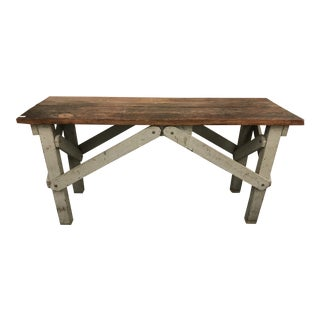 Vintage Industrial Console/Work Table For Sale