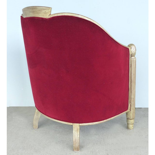 Paul Follot French Art Deco Settee and Bergères Set For Sale - Image 9 of 13
