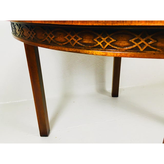 Mahogany 1950s Chippendale Kindel Mahogany Center Table For Sale - Image 7 of 11