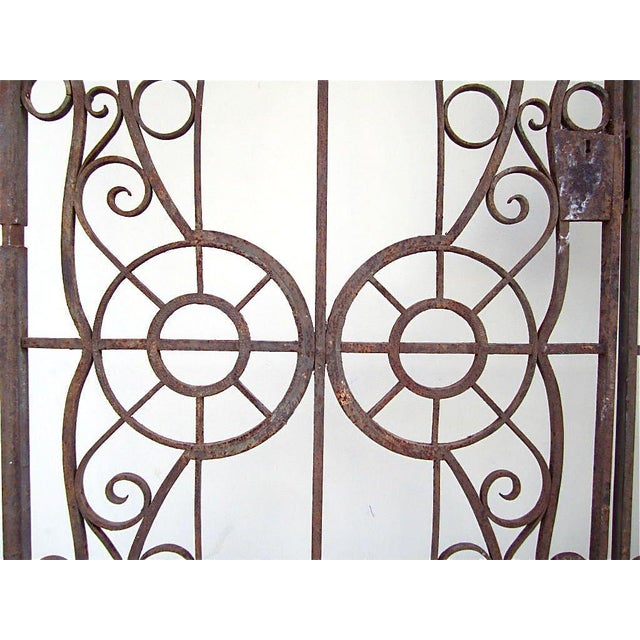 19th C. Egyptian Iron Gates - A Pair - Image 4 of 6