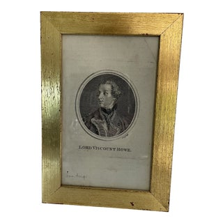 18th Century Engraving of Lord Viscount Howe For Sale