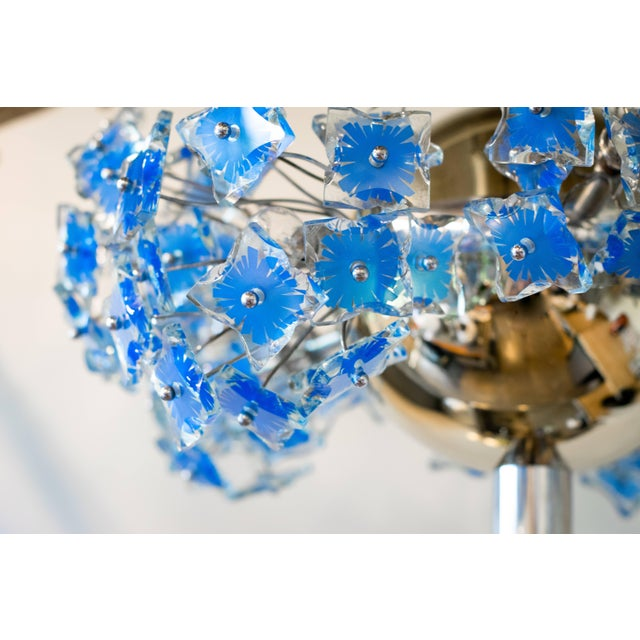 1950s Italian Chandelier Attributed to Fontana Arte, 1950s For Sale - Image 5 of 9