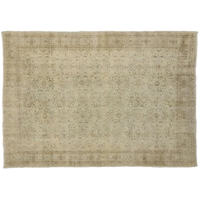 """Vintage Distressed Turkish Rug - 6'11"""" X 9'10"""" For Sale In Dallas - Image 6 of 6"""